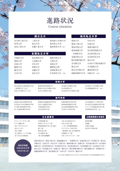 2021 名古屋大谷高等学校スクールガイドブック